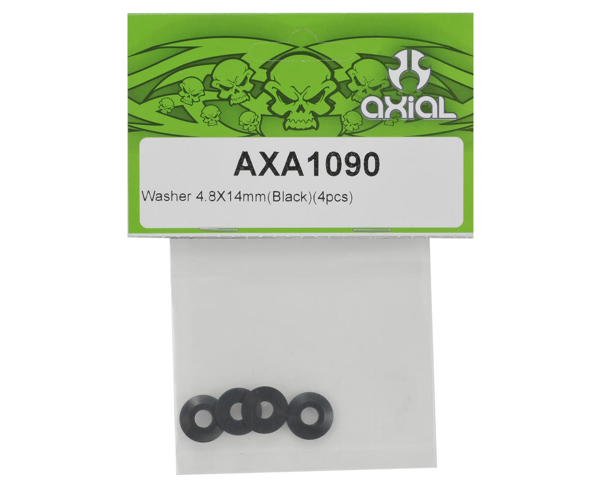 Axial 4x8x14mm Washer (Black) (4)