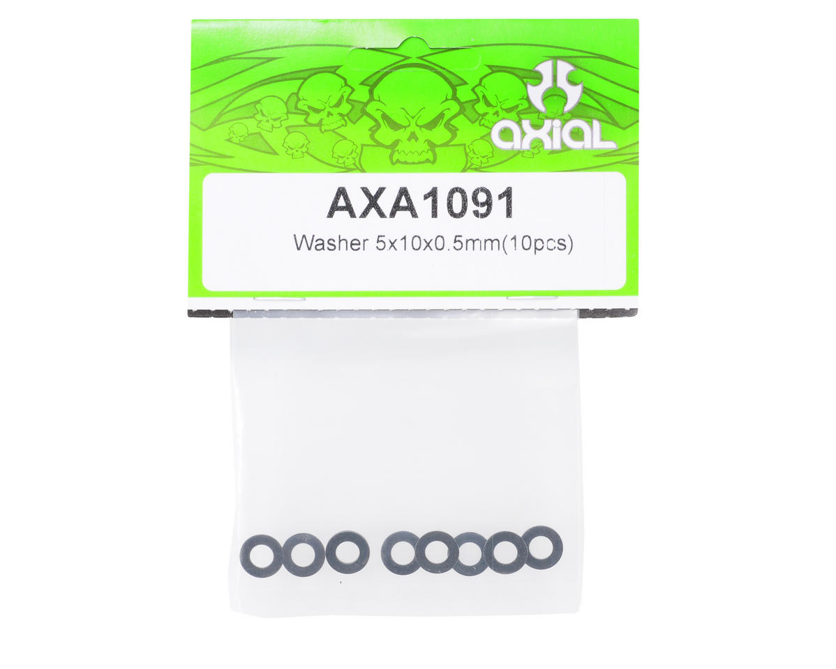 Axial Racing 5x10x.5mm Washer (Black) (10)