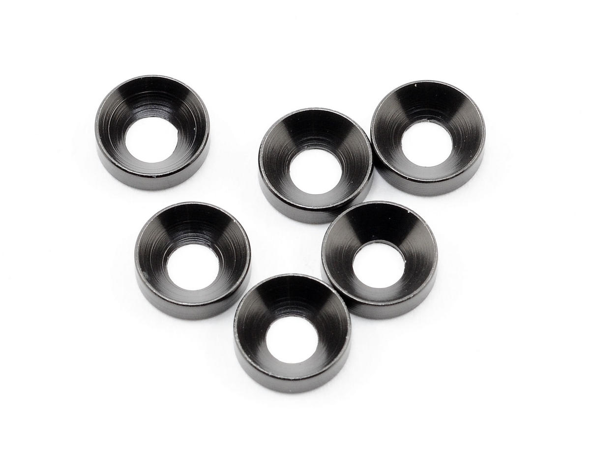 Axial Racing 3x6.9x2mm Cone Washer (Grey) (6)