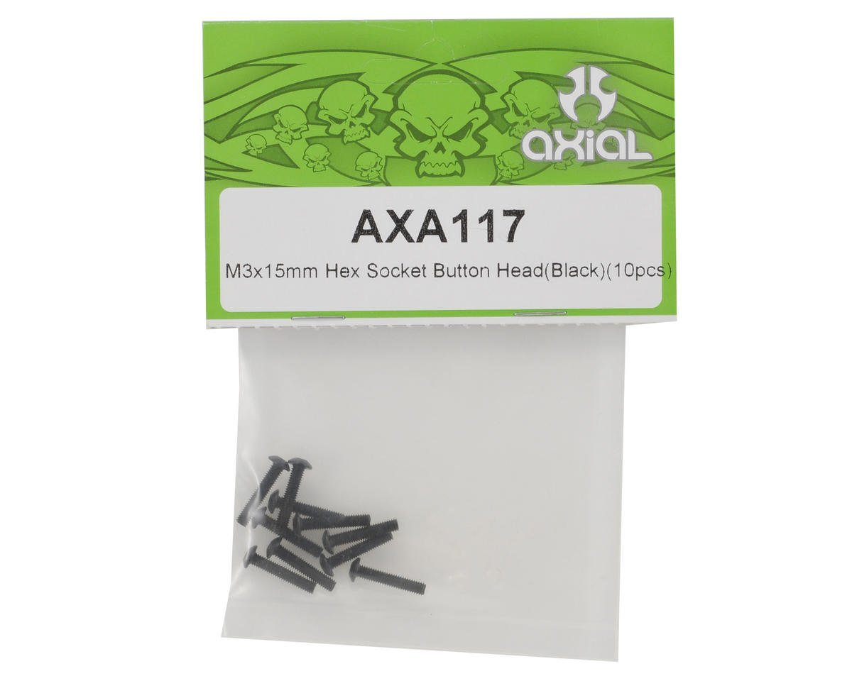 Axial 3x15mm Button Head Screw (Black) (10)