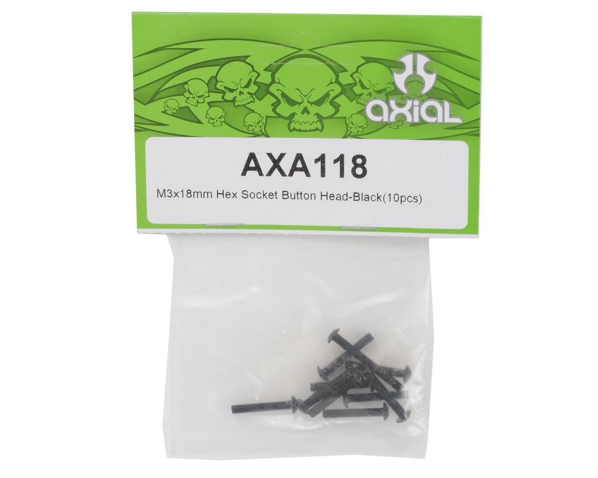 3x18mm Button Head Screw (10) by Axial Racing