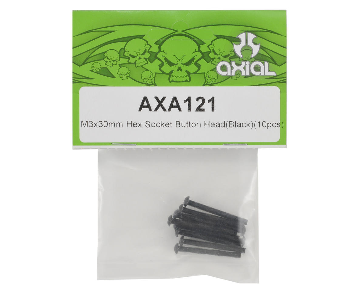 3x30mm Button Head Screw (Black) (10) by Axial