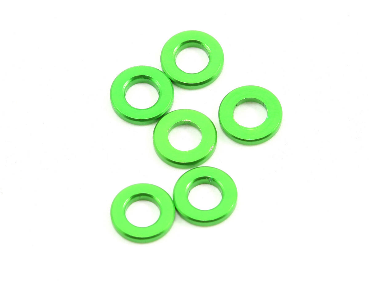 Axial Racing 1x3x6mm Spacer (Green) (6): AX10 Scorpion