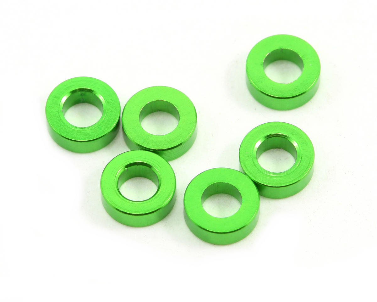 2x3x6mm Spacer (Green) (6): AX10 Scorpion by Axial