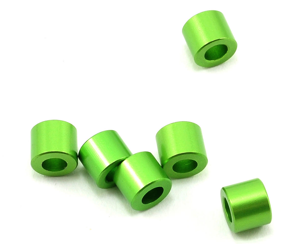 Axial Racing 5x6mm Aluminum Spacer (Green) (6)