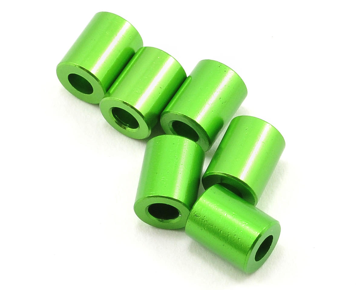 Axial Racing 7.5x6mm Spacer (Green) (6)