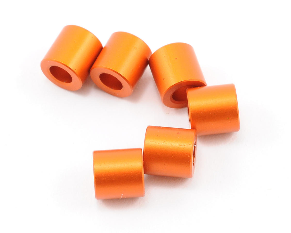 Axial 6x6mm Spacer (Orange) (6)