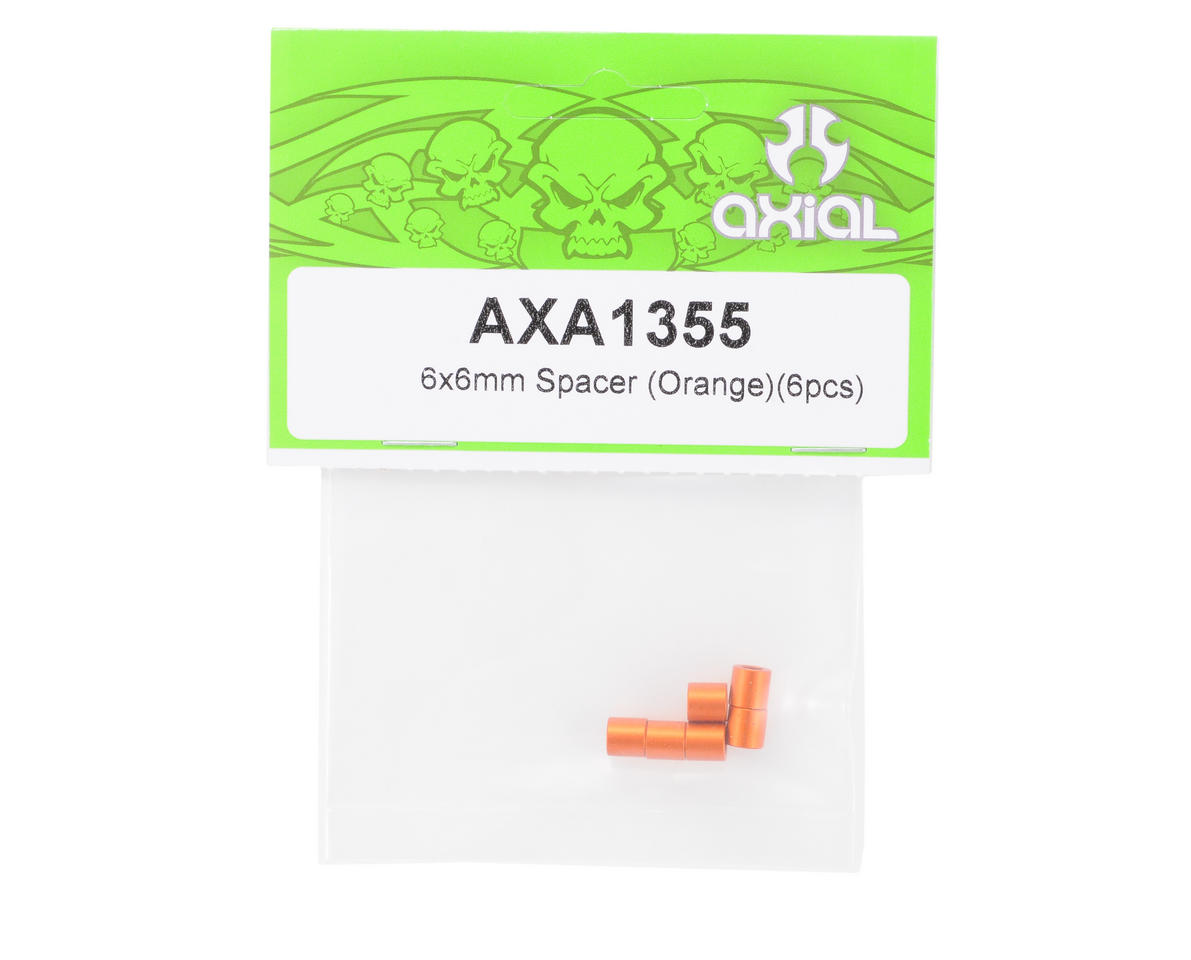 6x6mm Spacer (Orange) (6) by Axial