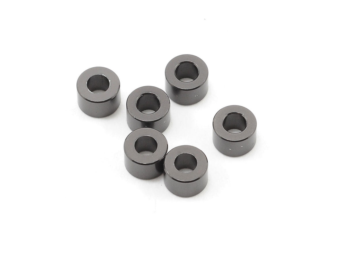 Axial 4x6mm Spacer (Grey) (6)