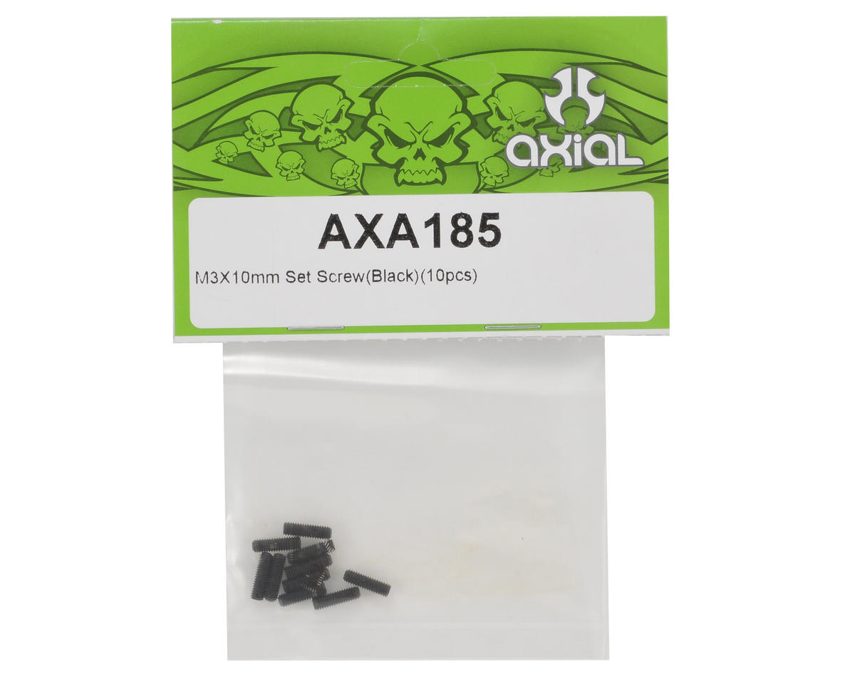Axial Racing 3x10mm Set Screw (Black) (10)