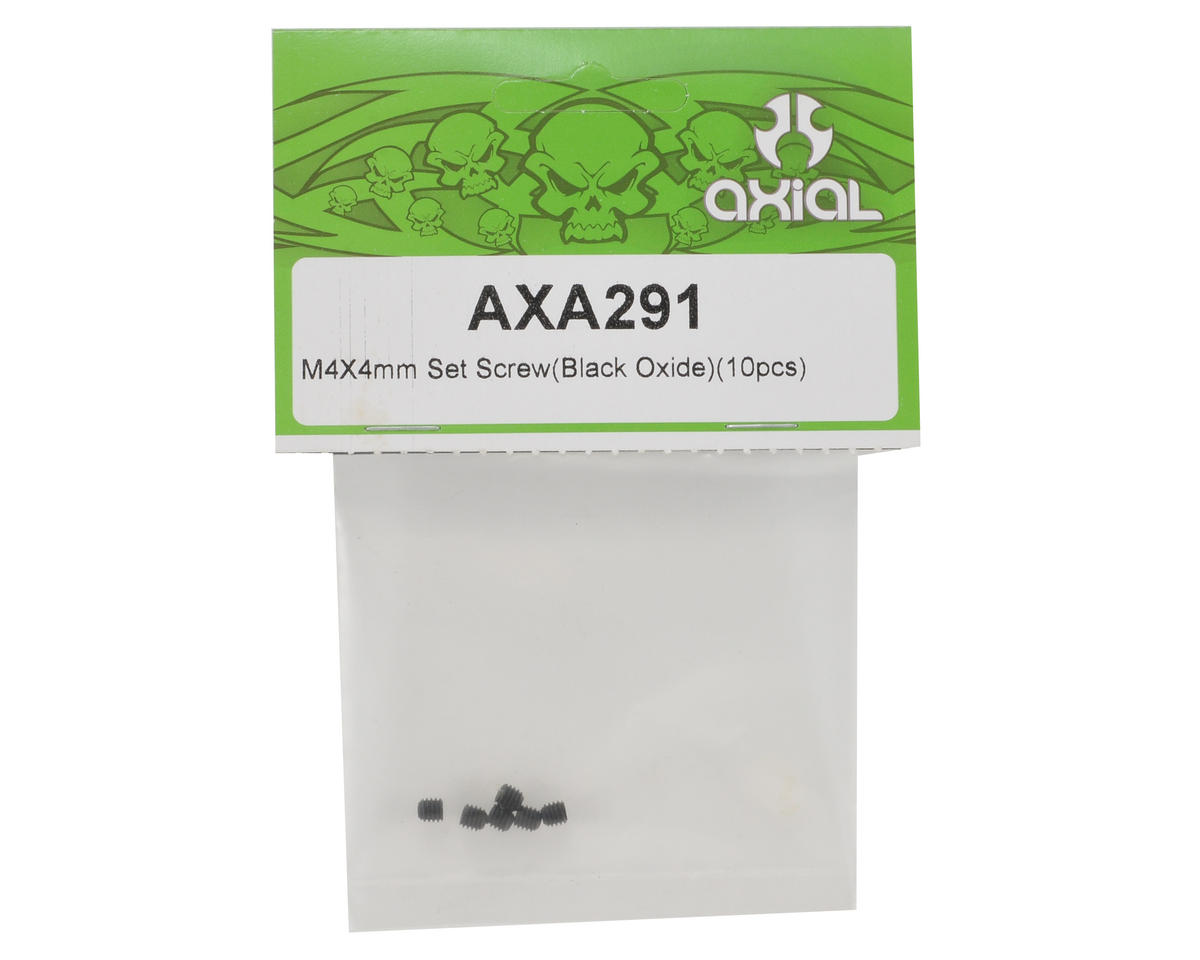 Axial 4x4mm Set Screw (Black) (6)