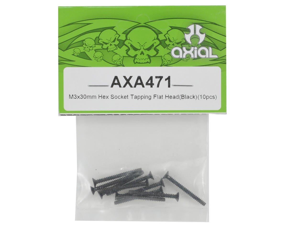 Axial 3x30mm Self Tapping Flat Head Screw (Black) (10)