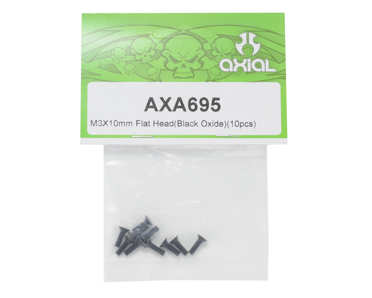Axial Racing M3x10mm Flat Head Screws (10)