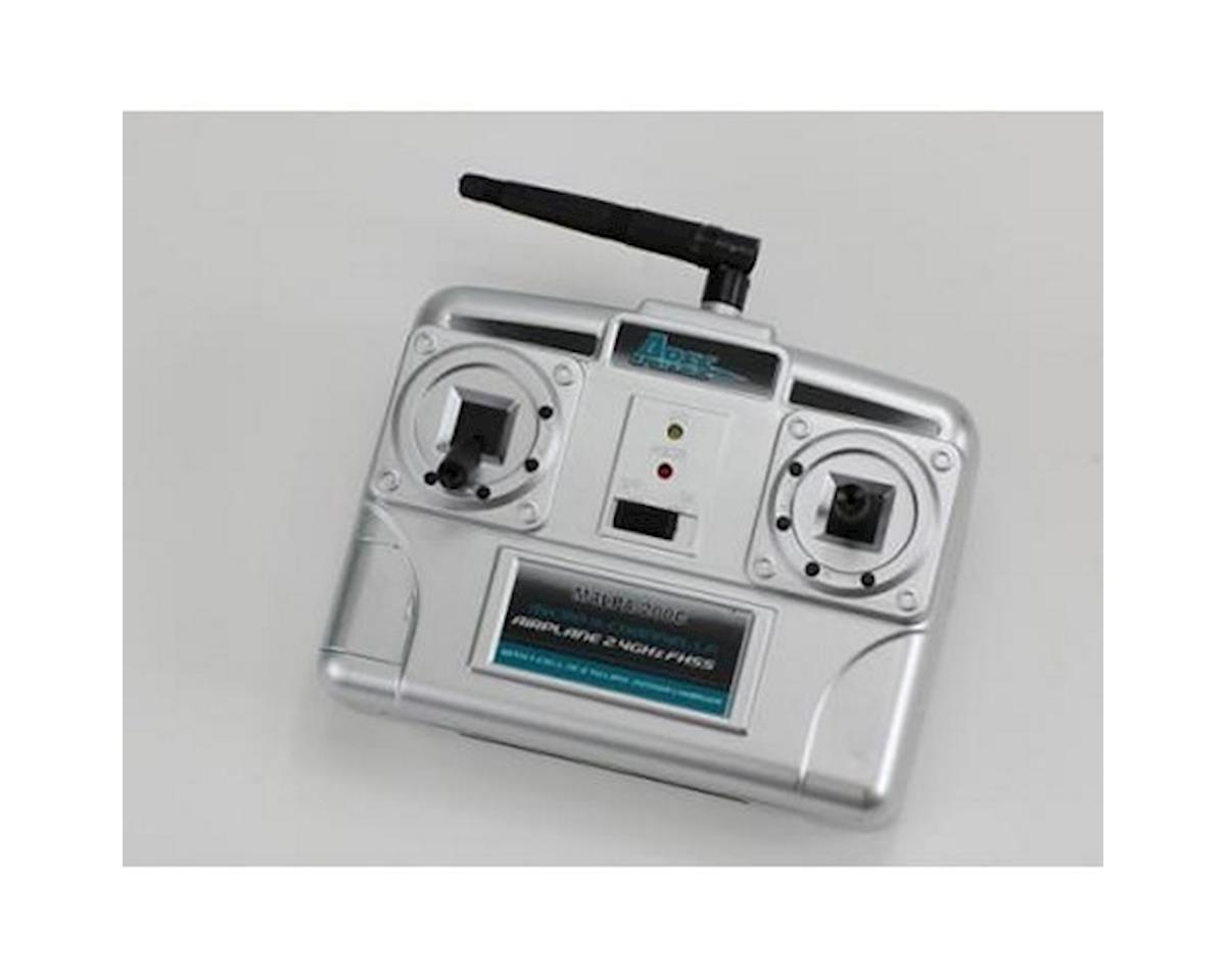 Ares Transmitter Airplane Micro 4-Channel LP M4LPA-200C with 200mA Charger, Mode 2 (UMT)