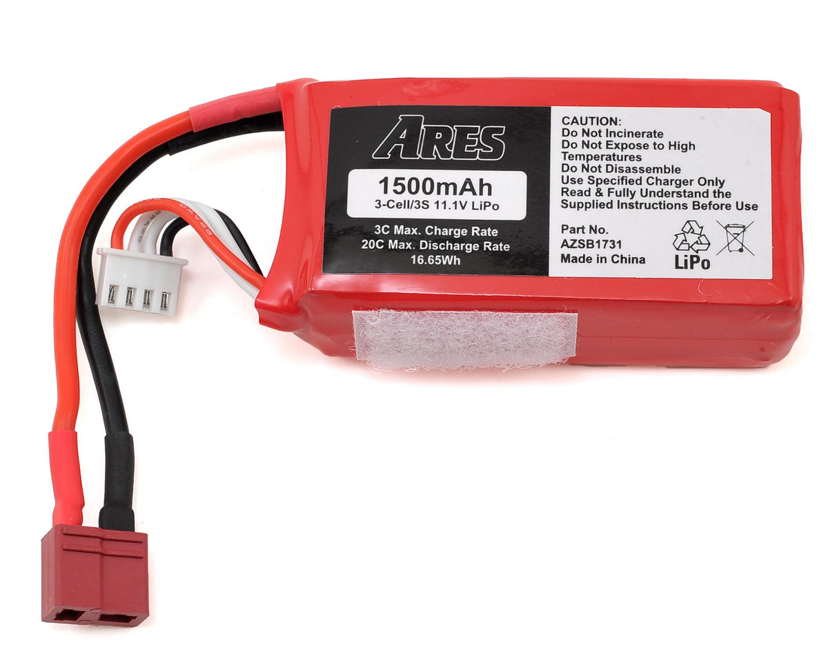 Ares RC 3S 20C LiPo Battery Pack (11.1V/1500mAh) (Alara EP)