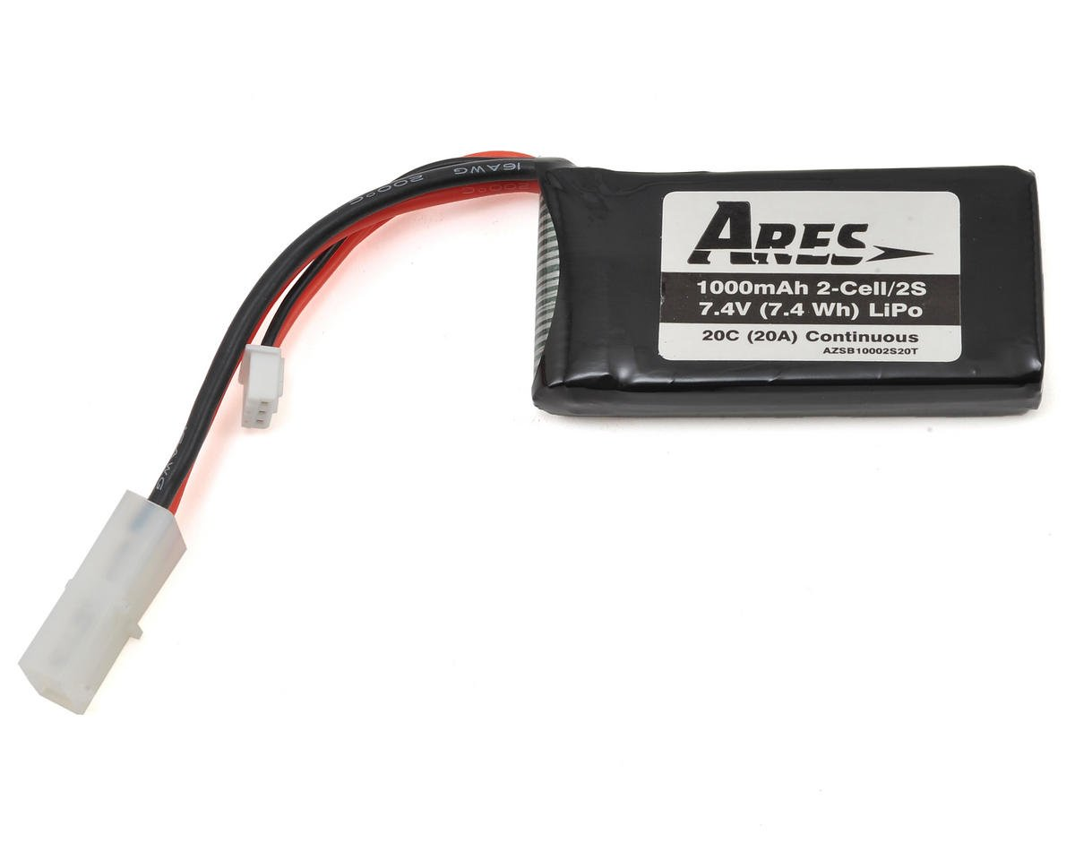 Ares RC 2S 20C LiPo Battery Pack (7.4V/1000mAh) (Gamma 370)