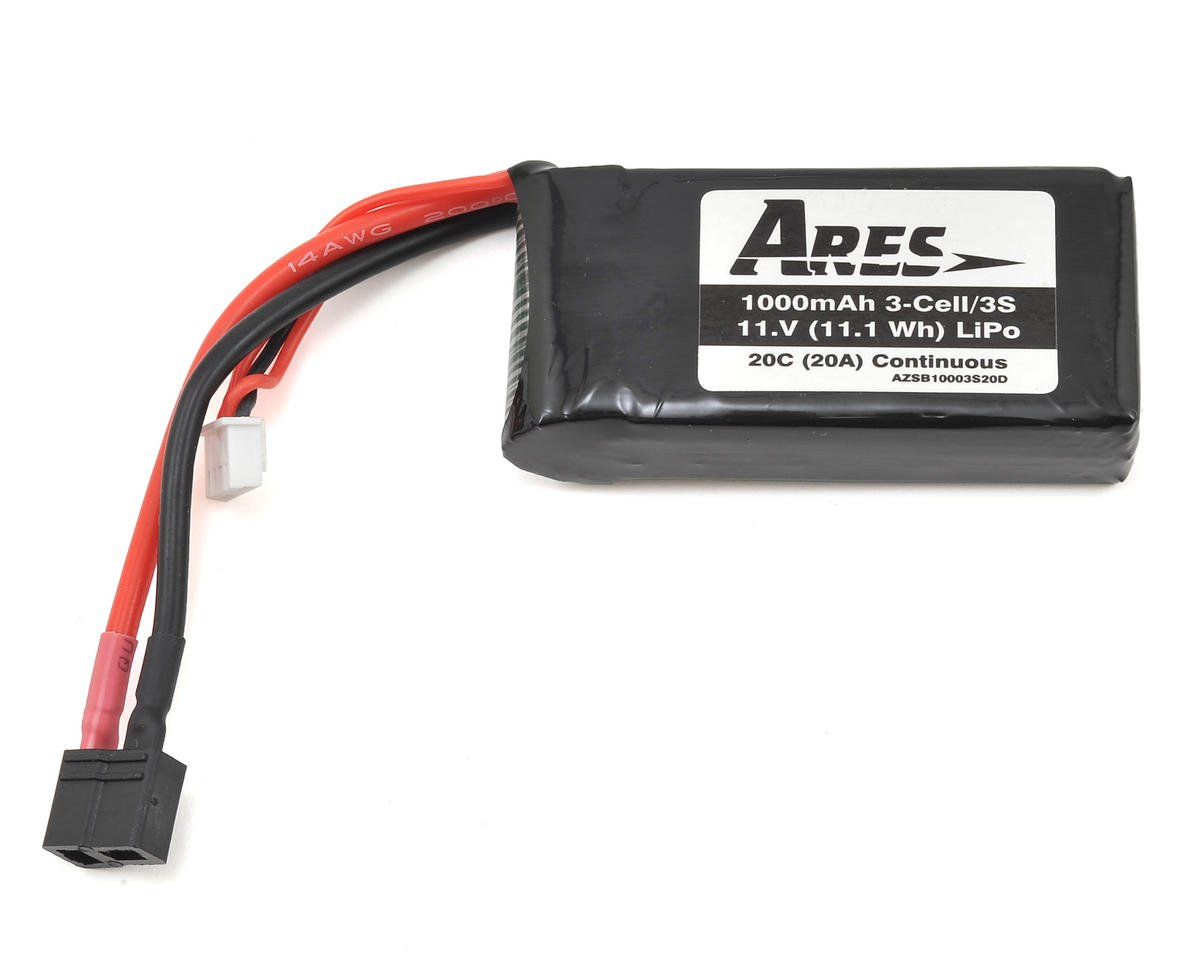 Ares RC 3S 20C LiPo Battery Pack (11.1V/1000mAh) (Gamma Pro, Pro V2)