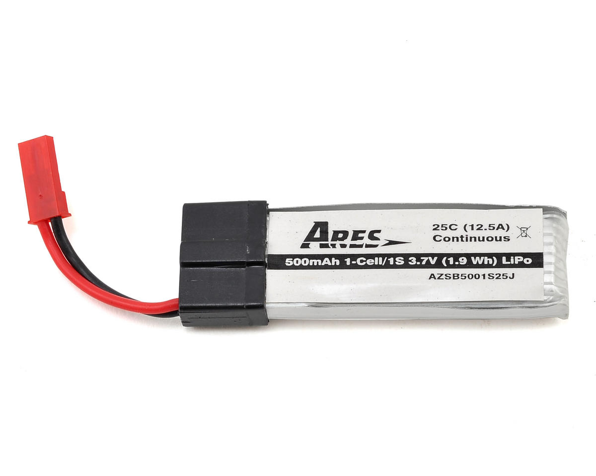 Ares RC 1S 25C LiPo Battery w/JST Connector (Ethos QX 130) (3.7V/500mAh)