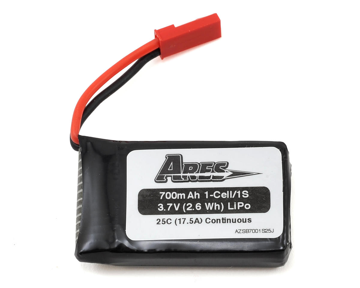 1S 25C LiPo Battery Pack w/JST (3.7V/700mAh) (Exera 130 CX) by Ares RC