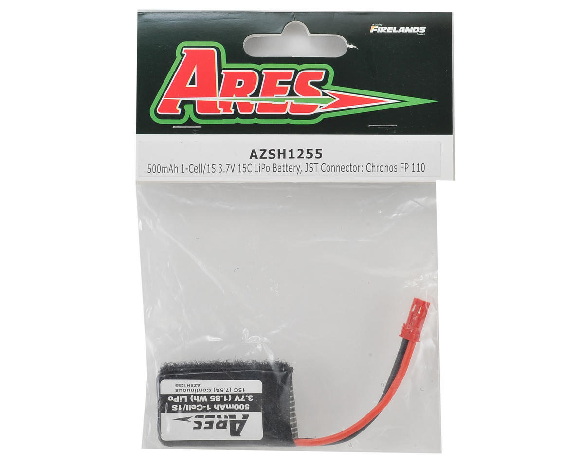 Ares RC 1S 15C LiPo Battery Pack w/JST (3.7V/500mAh) (Chronos FP110)