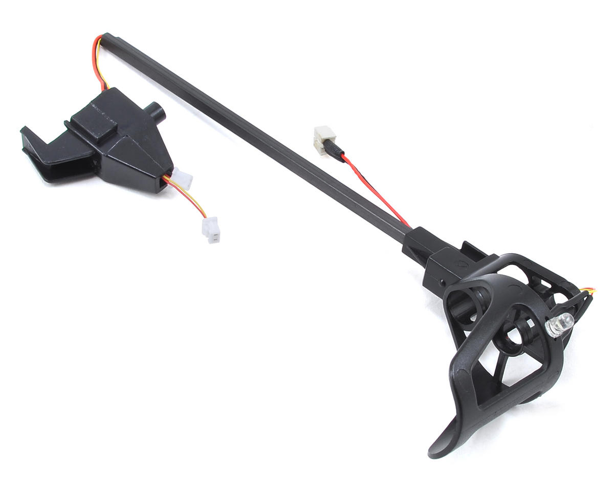 Ares RC Mount/Landing Skid Assembly w/White LED (Left Front) (Ethos QX 130)