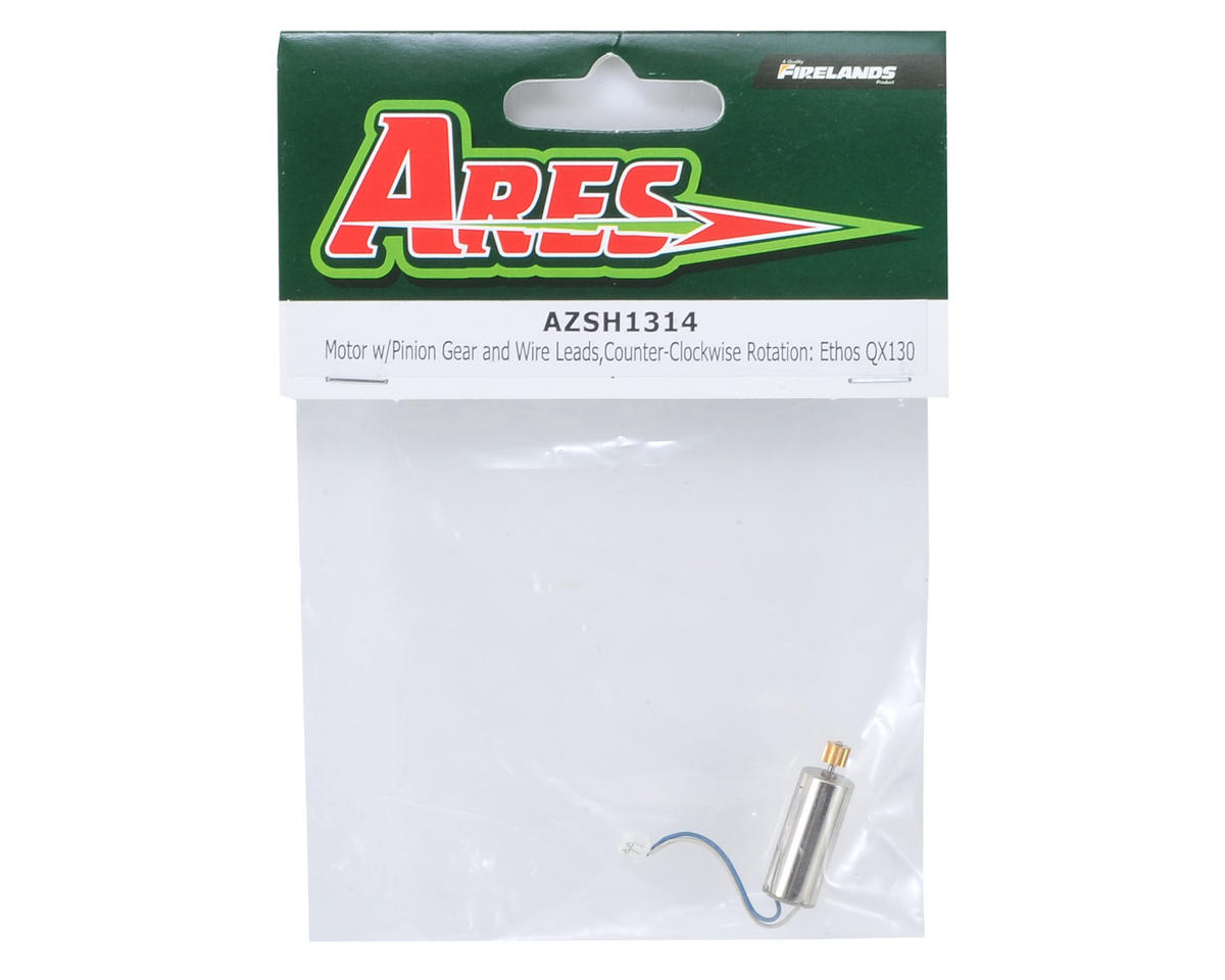 Ares RC Motor w/Pinion Gear & Wire Leads (CCW Rotation) (Ethos QX 130)