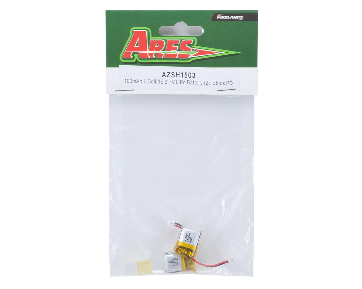 Ares 1S LiPo Flight Battery (2) (3.7V/100mAh) (Ethos PQ)