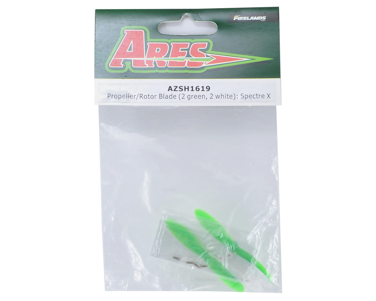 Ares Rotor Blade Set (2x Green & 2x White) (Spectre X)
