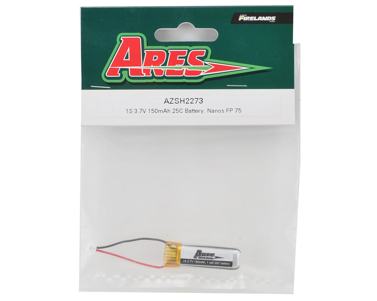 Ares RC 1S LiPo Battery Pack (3.7V/150mAh) (Nanos FP 75)