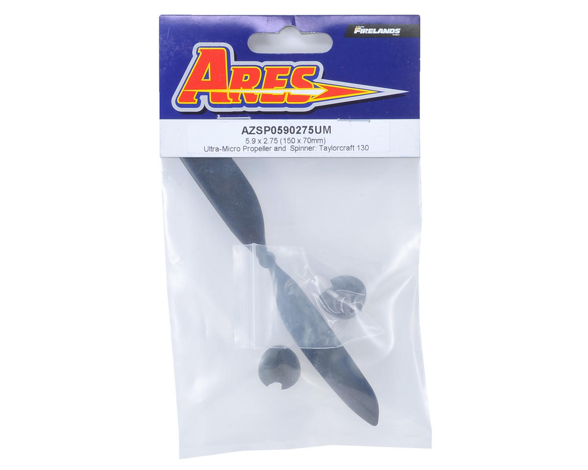 Ares RC 5.9 x 2.75 Ultra-Micro Propeller & Spinner (Taylorcraft 130)