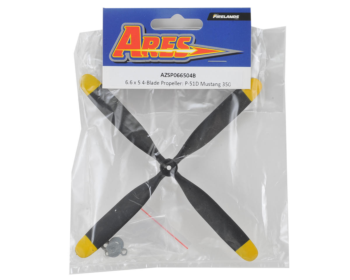 Ares 6.6 x 5 4-Blade Propeller (P-51D Mustang 350)