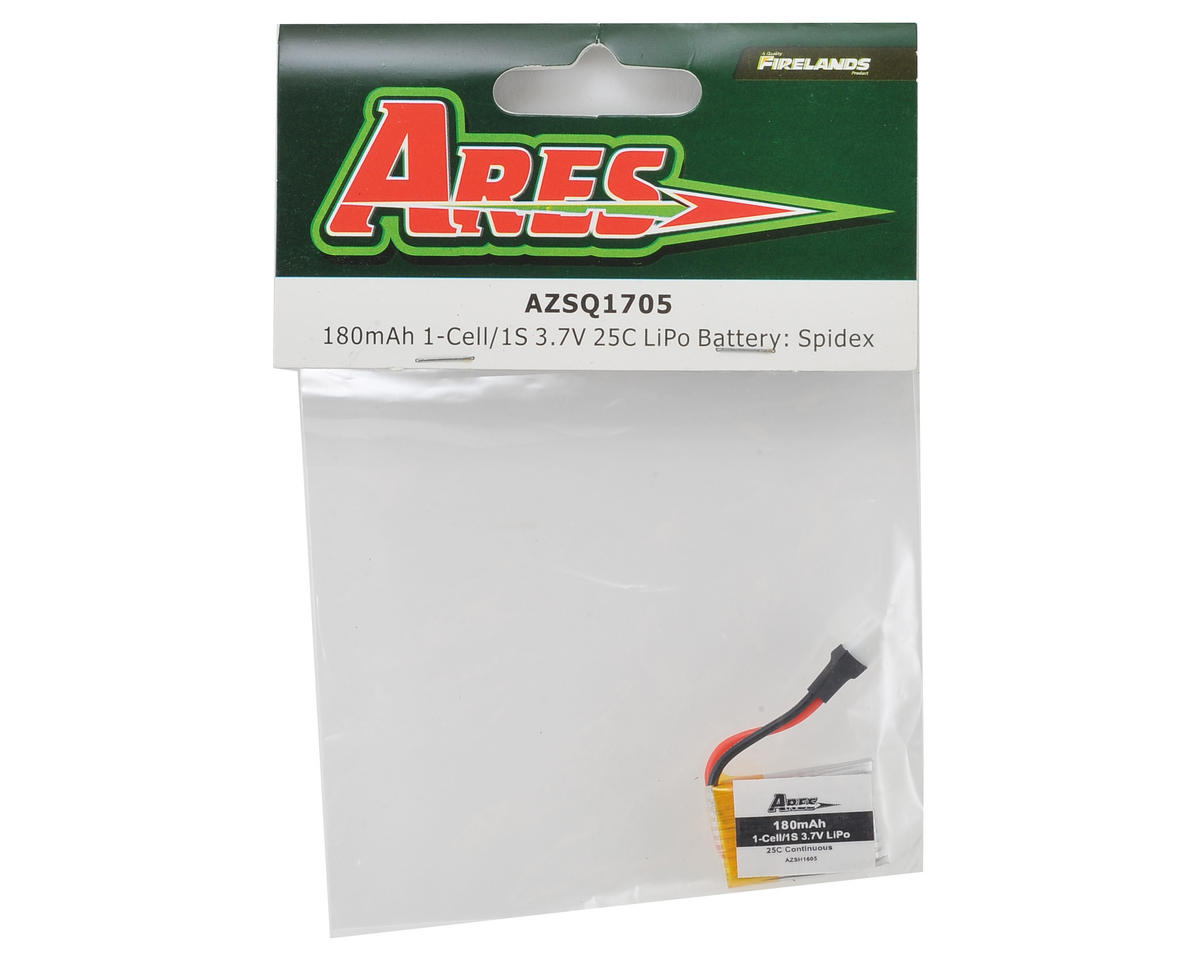 Ares RC 1S 25C LiPo Flight Battery (3.7V/180mAh) (Spidex)
