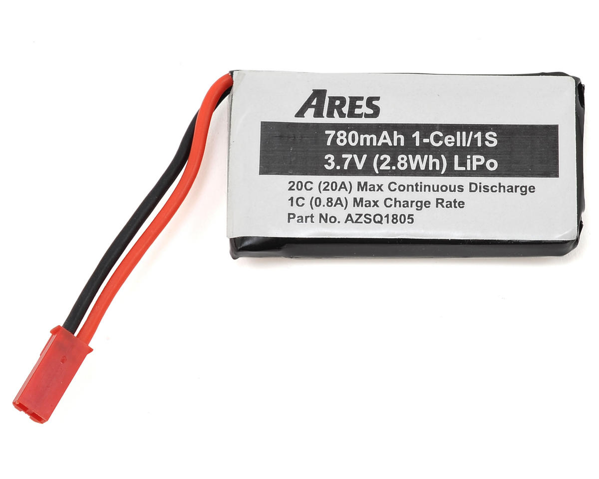 1S 20C LiPo Battery Pack (3.7V/780mAh) (Shadow 240) by Ares