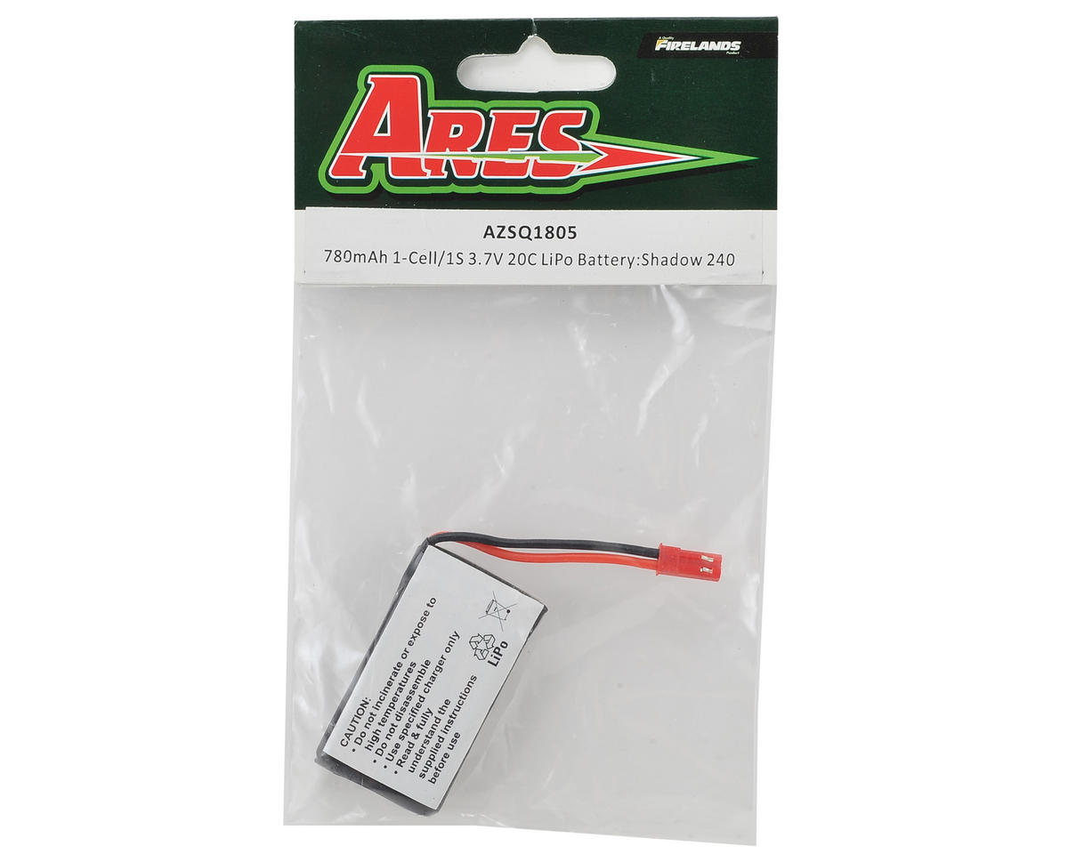 Ares RC 1S 20C LiPo Battery Pack (3.7V/780mAh) (Shadow 240)