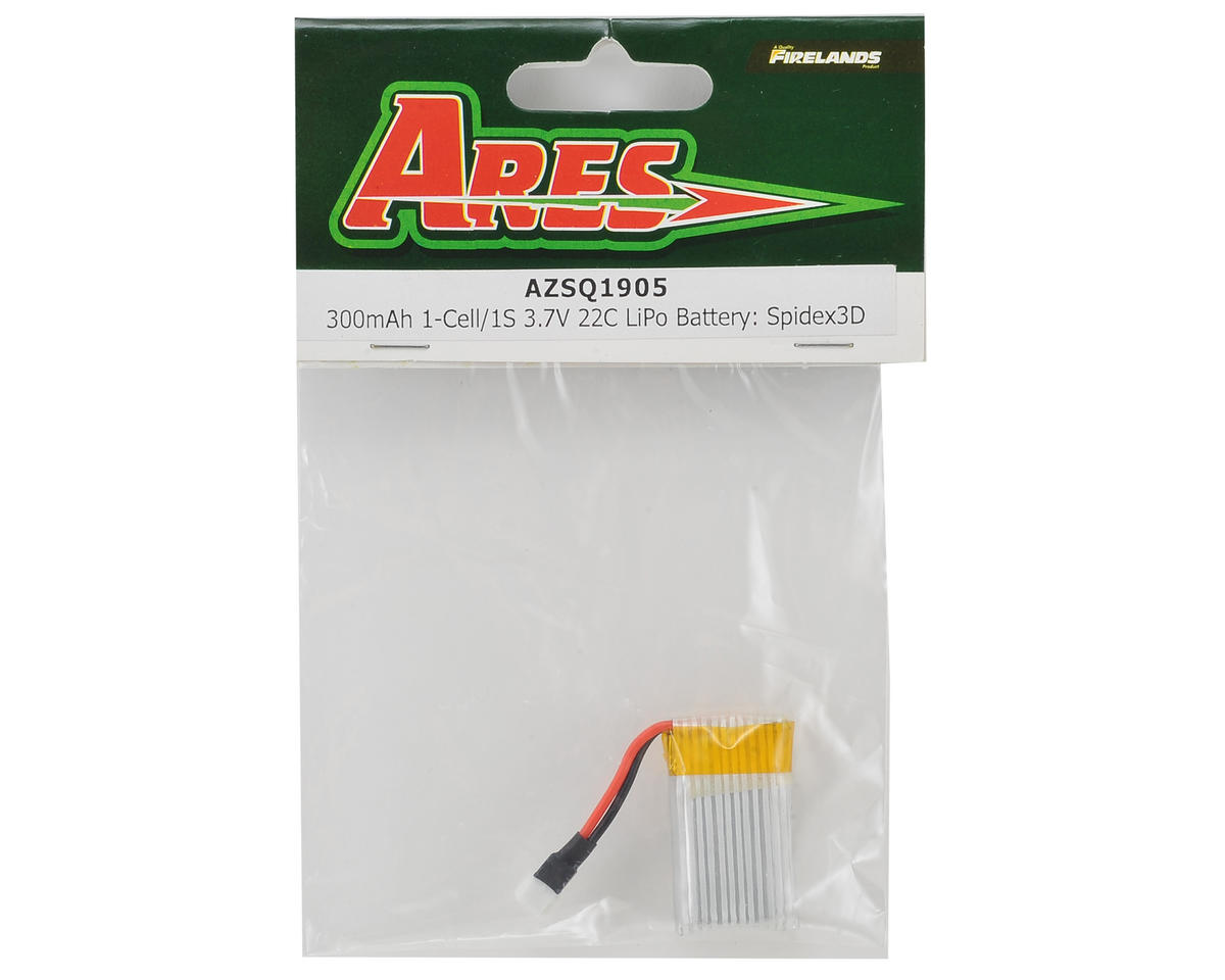 Ares RC 1S 22C LiPo Battery Pack (3.7V/300mAh) (Spidex 3D)