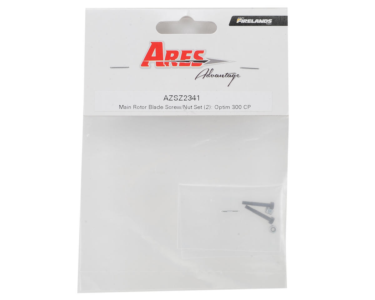 Ares Main Rotor Blade Screw w/Nuts (2) (Optim 300 CP)