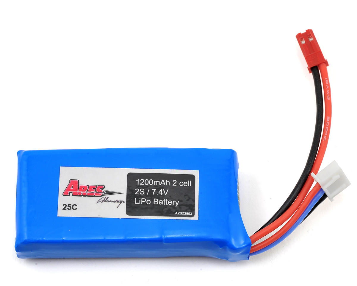 2S 25C LiPo Flight Battery w/JST (7.4V/1200mAh) (Ethos HD/FPV)