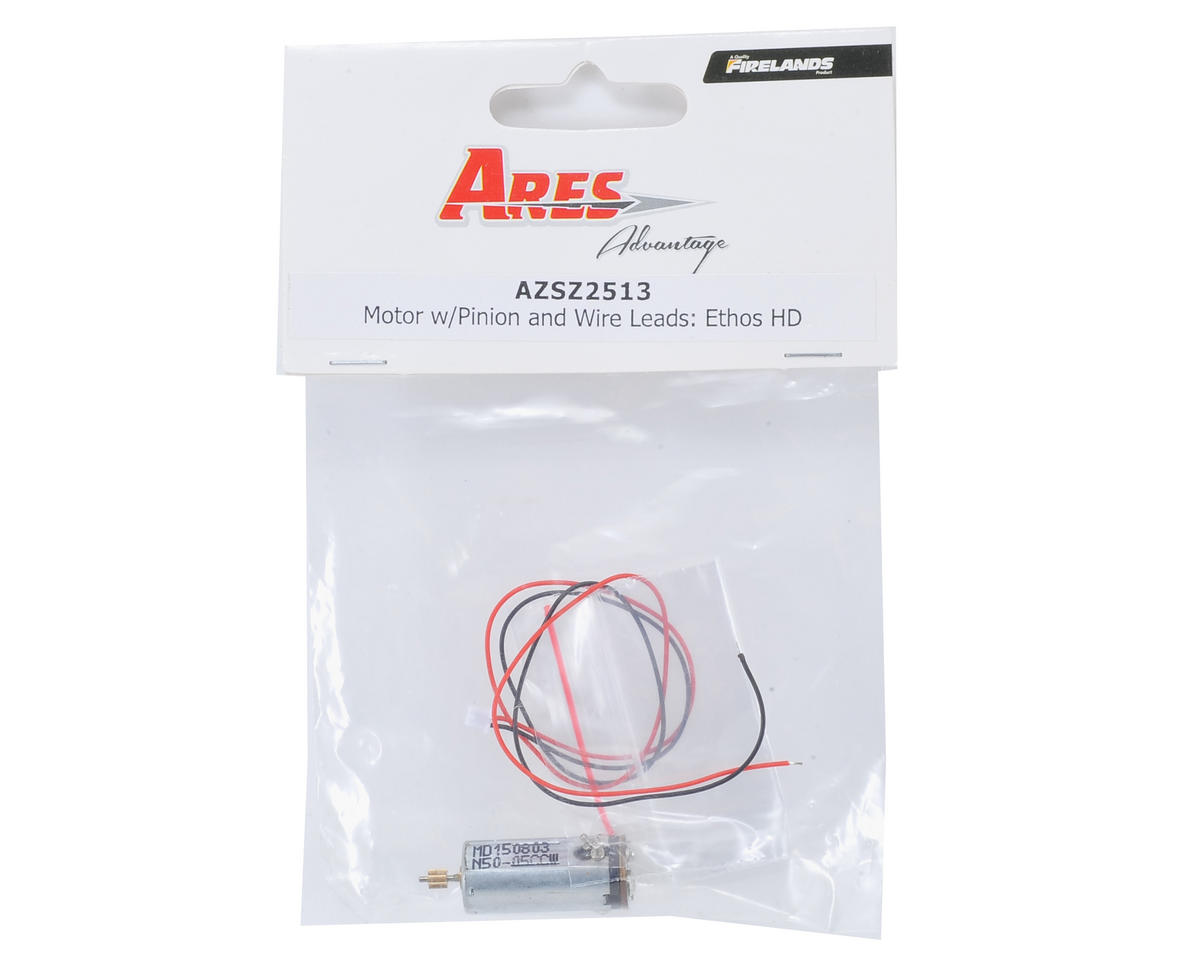 Ares Motor w/Pinion Gear & Wire Leads (Ethos HD/FPV)
