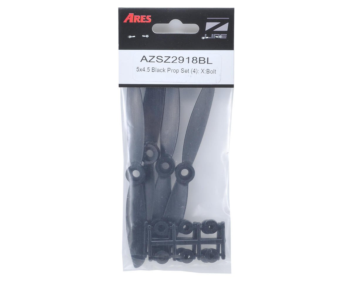 Ares 5 x 4.5 Black Propeller Set (4) (X:Bolt)