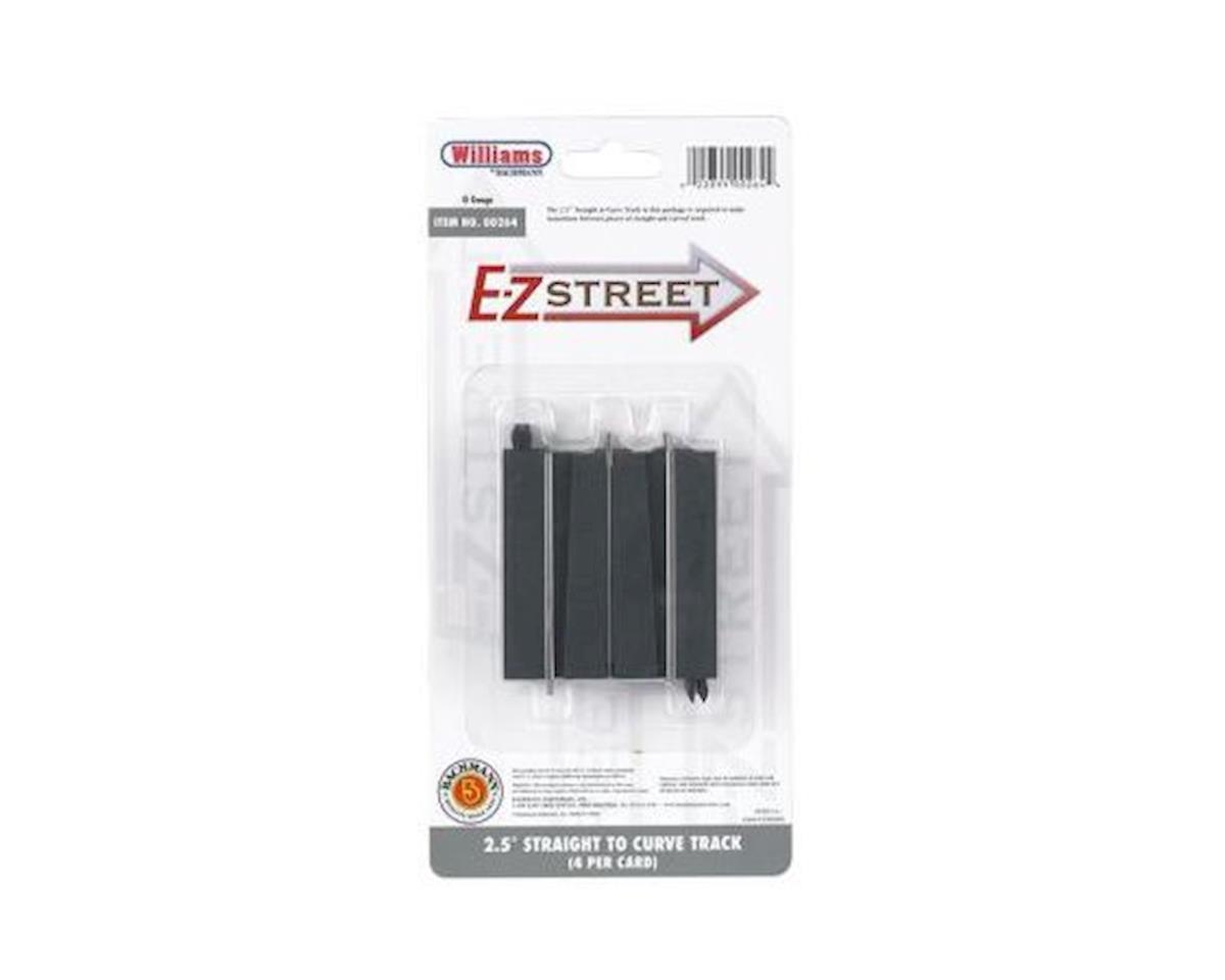 """Bachmann O E-Z Street 2.5"""" Straight/Curve Connector (4)"""