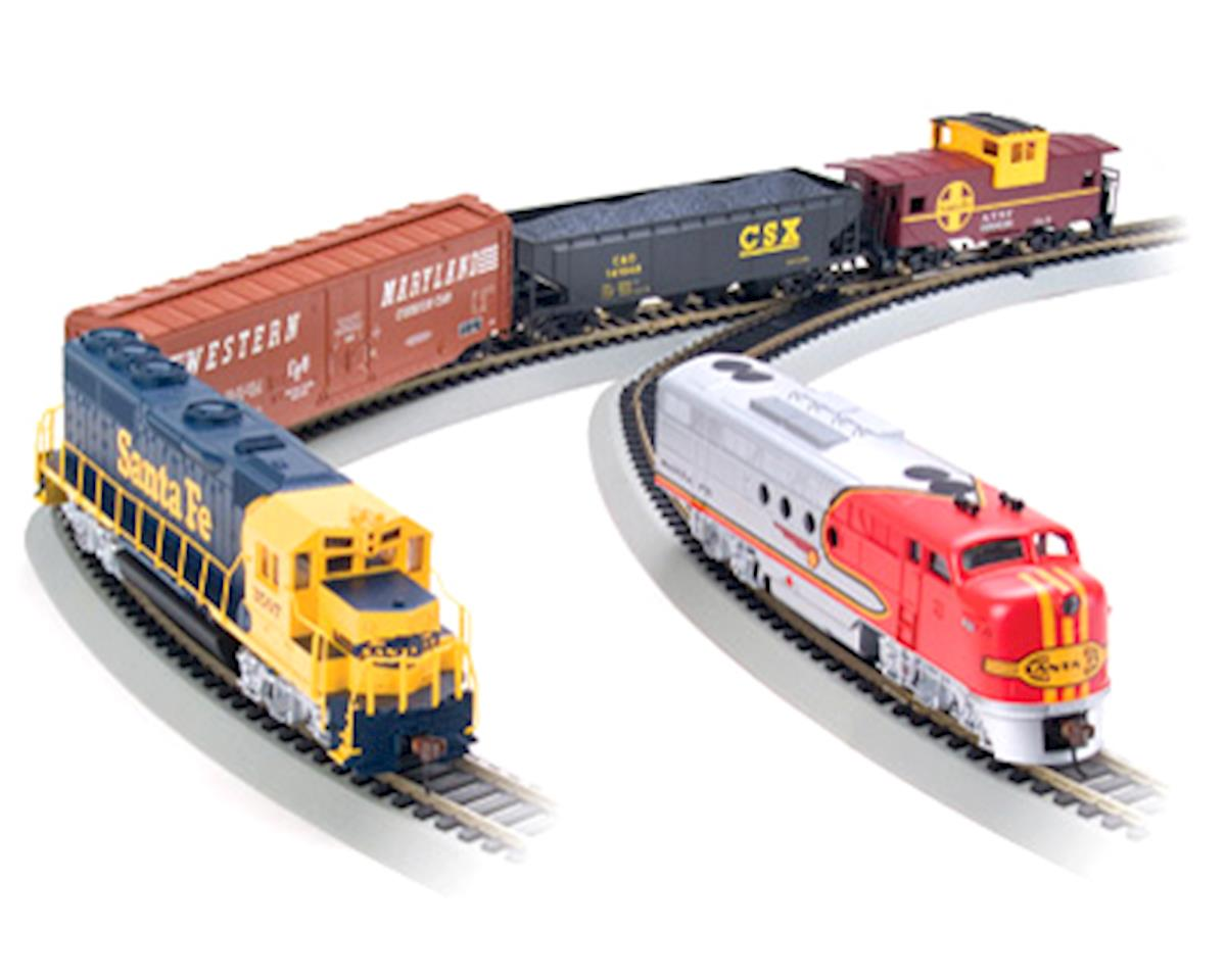 HO-Scale Digital Commander Deluxe Train Set w/DCC (Santa Fe) by Bachmann
