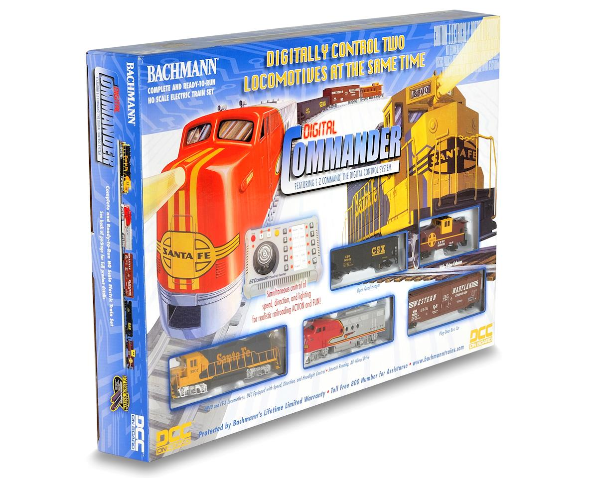 Bachmann HO-Scale Digital Commander Deluxe Train Set w/DCC (Santa Fe)