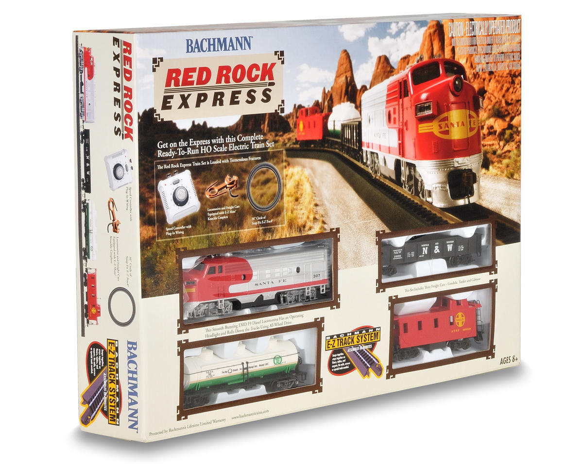 HO-Scale Red Rock Express Train Set (Santa Fe)
