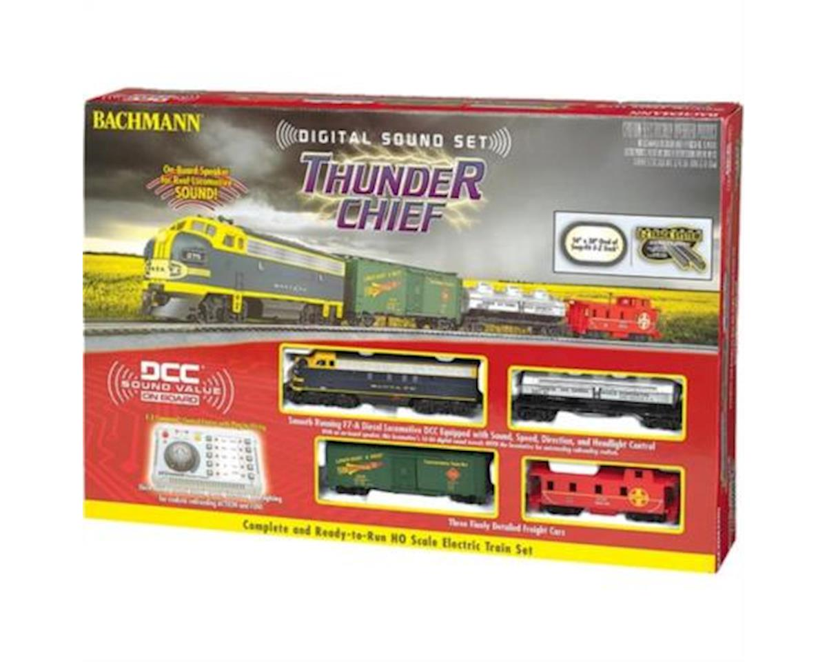 HO Thunder Chief Train Set w/EZ Command Sound by Bachmann