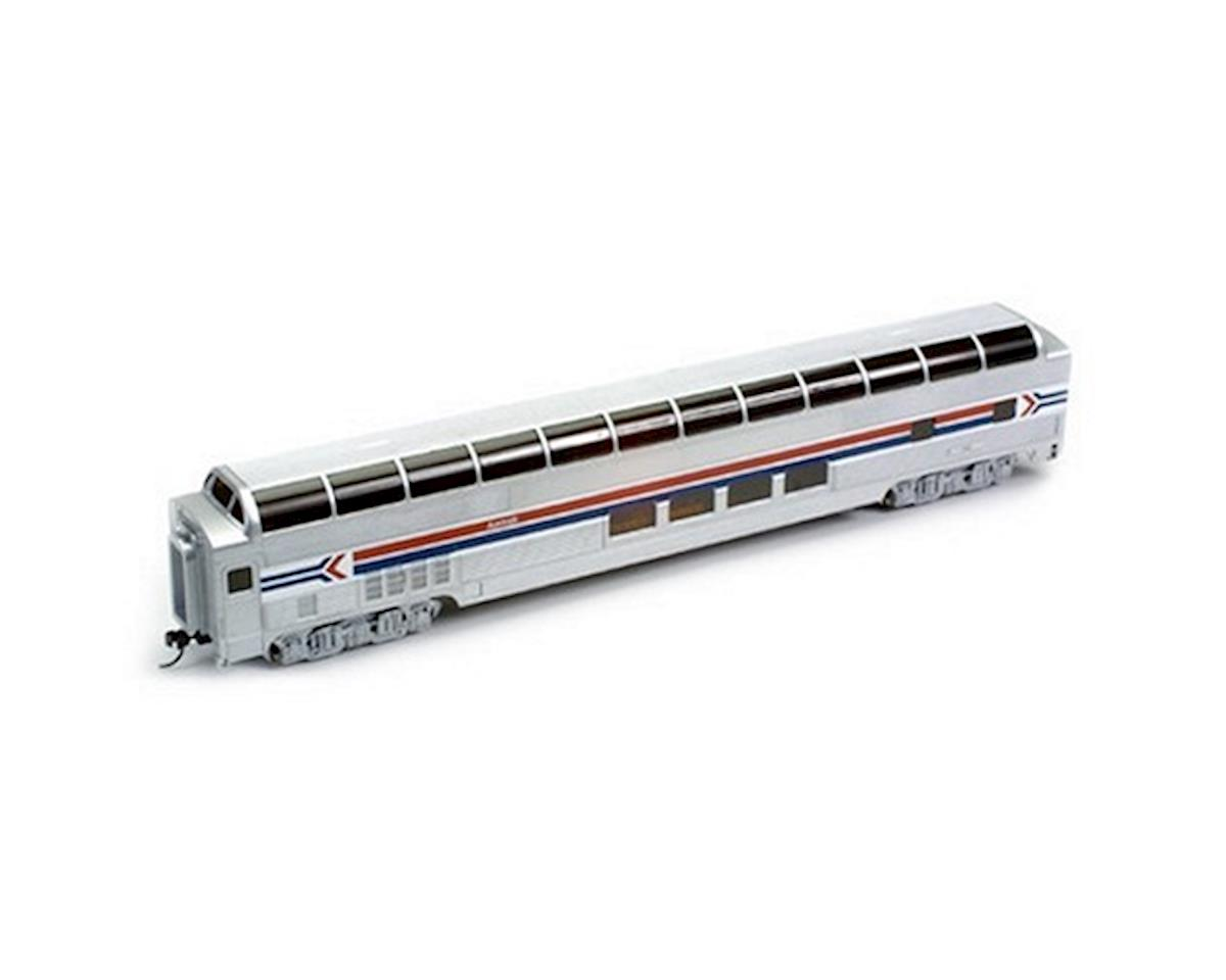 HO RTR SS 85' Budd Full Dome/Lighted, Amtrak/PhI by Bachmann