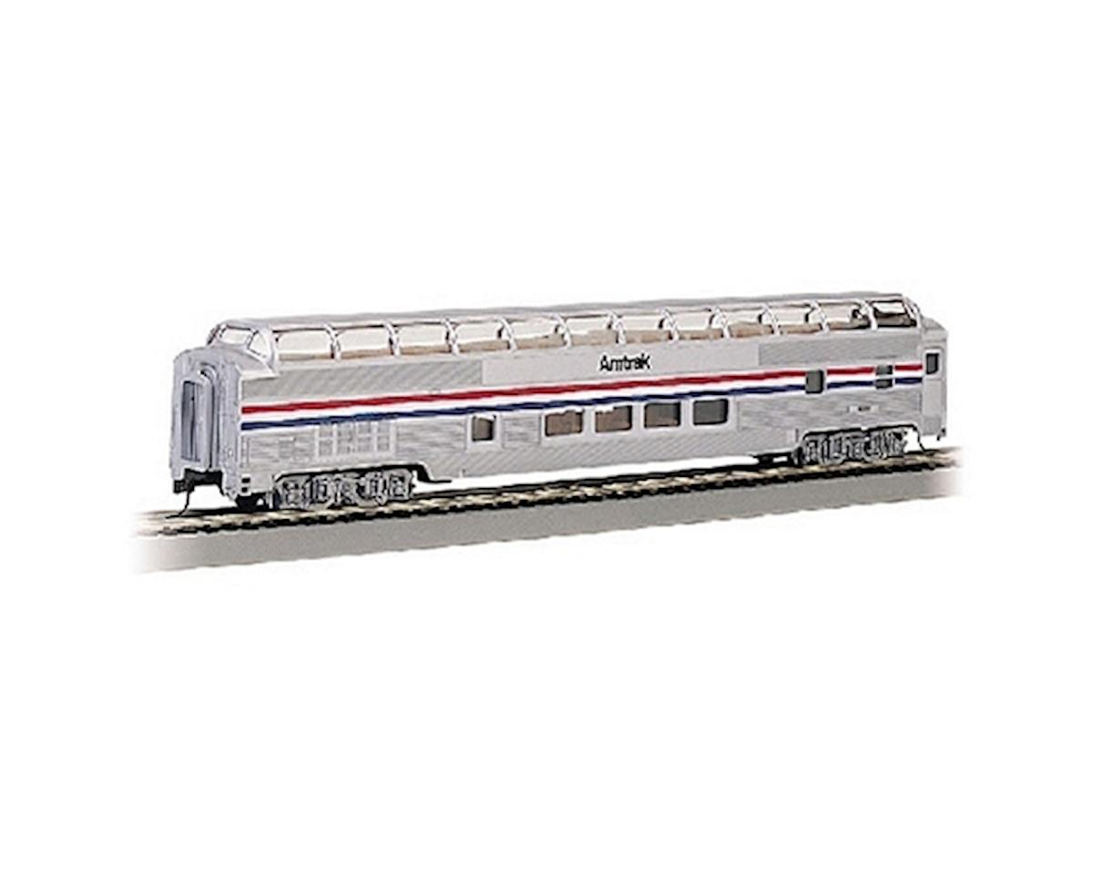 Bachmann HO RTR SS 85' Budd Full Dome/Lighted, Amtrak/PhII