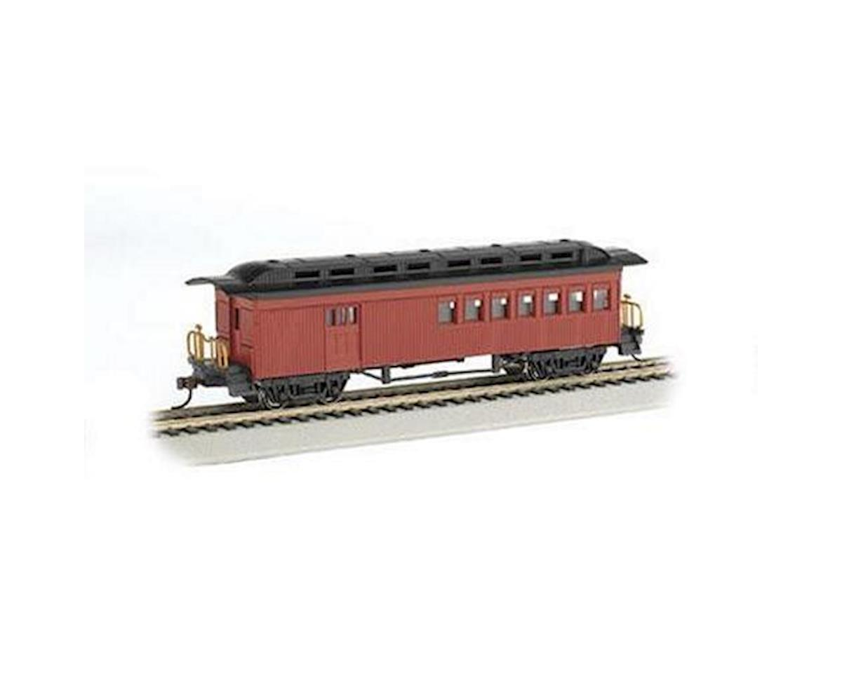 Bachmann Painted Unlettered 1860-1880's Era Combine (Red) (HO Scale)