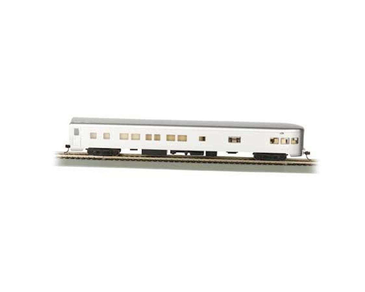 Bachmann HO 85' Smooth Side Observation Car, Undec/Aluminum