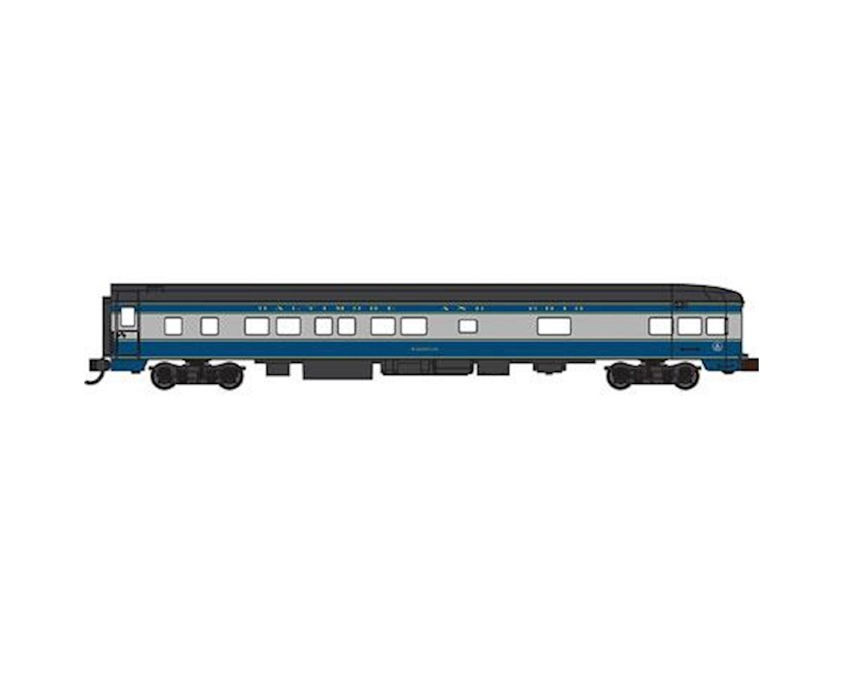 Bachmann N 85' Smooth Side Observation Car, B&O