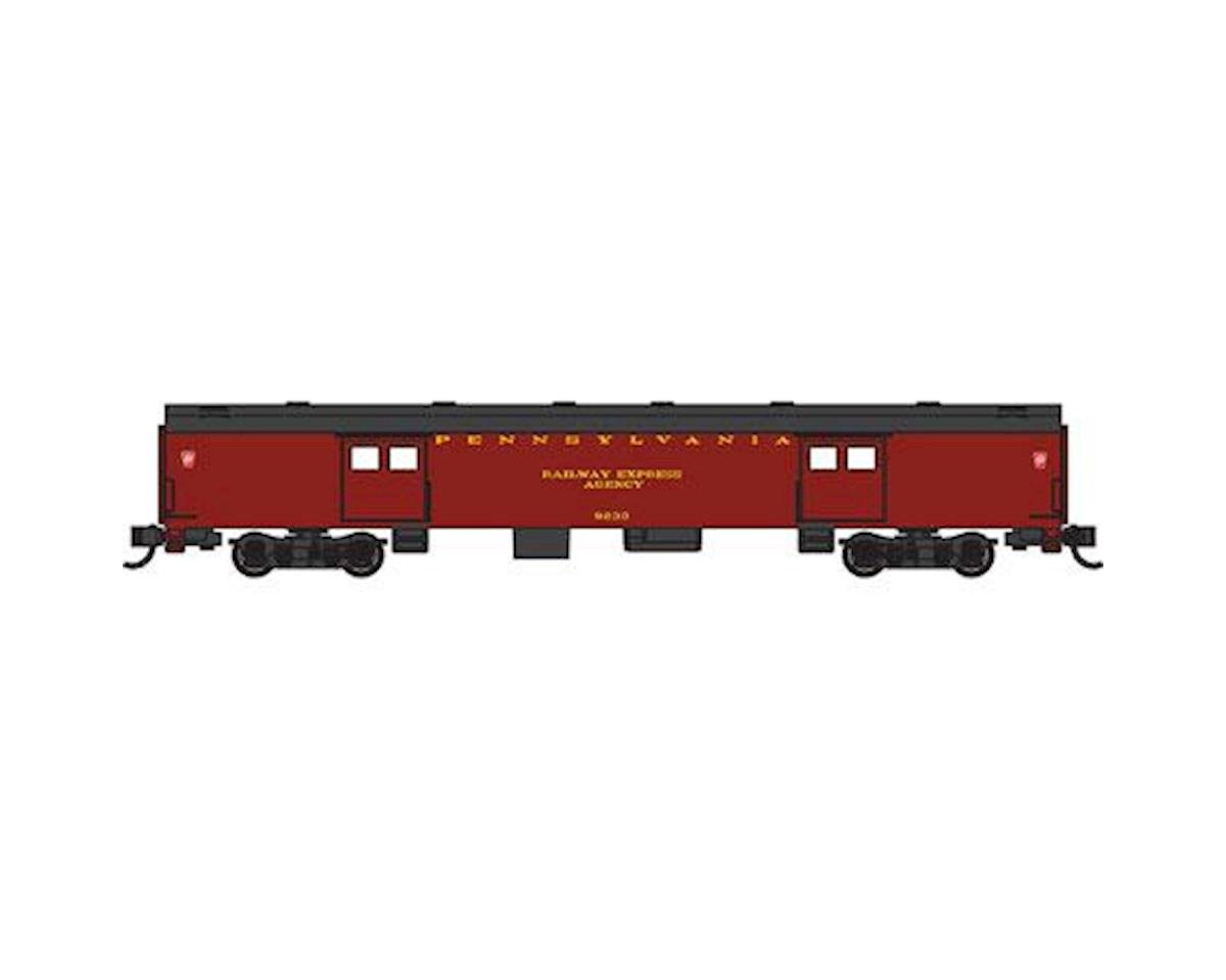 N 72' Smooth Side Baggage Car, PRR by Bachmann